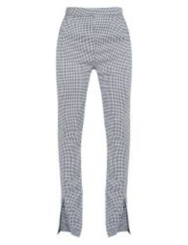 Dogtooth High Waisted Split Hem Flared Pants by Prettylittlething