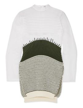 纯棉欧亘纱条纹羊毛毛衣 by Loewe