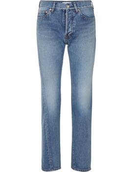 Twisted 高腰直筒牛仔裤 by Balenciaga