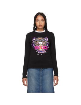 Black Classic Tiger Head Sweatshirt by Kenzo