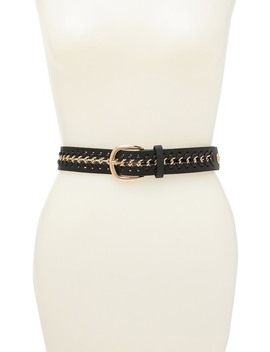 Woven Chain Panel Belt by Vince Camuto