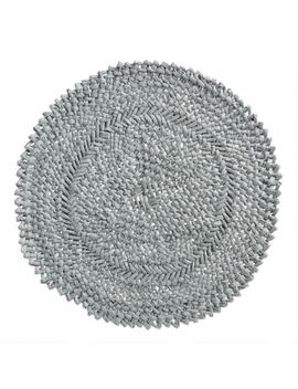 Round Steel Blue Braided Placemats Set Of 4 by World Market