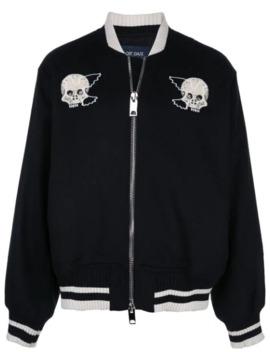 Good Boy Embroidered Bomber Jacket by Lost Daze