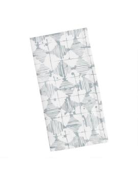 Gray Abstract Scribble Print Napkins Set Of 4 by World Market