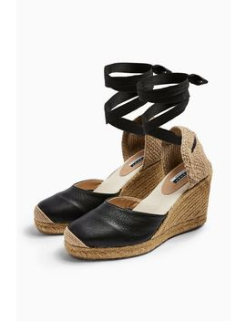 Wren Leather Espadrilles by Topshop