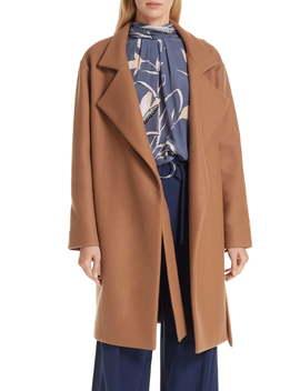 Belted Wool Blend Wrap Coat by Diane Von Furstenberg