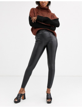 Topshop Faux Leather Skinny Pants In Black by Topshop