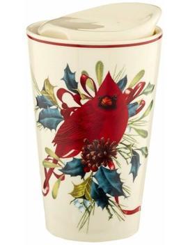 Lenox Winter Greetings Porcelain Top Travel Mug by Lenox