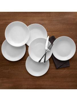 """Corelle Livingware Winter Frost White 10.25\"""" Dinner Plate, Set Of 6 by Corelle"""