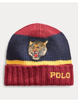 Rugby Stripe Tiger Hat by Ralph Lauren