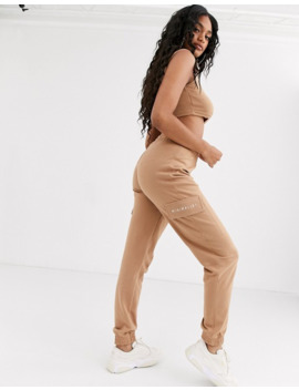 Missguided Branded Two Piece In Camel by Asos