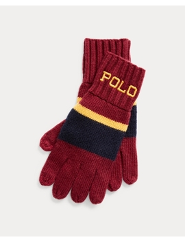 Rugby Stripe Gloves by Ralph Lauren