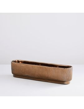 fluted-planters---crystal-gold by west-elm