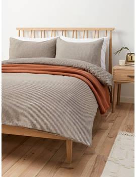 John Lewis & Partners Asper Brushed Cotton Duvet Cover Set by John Lewis & Partners