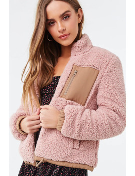 Reversible Faux Shearling Jacket by Forever 21