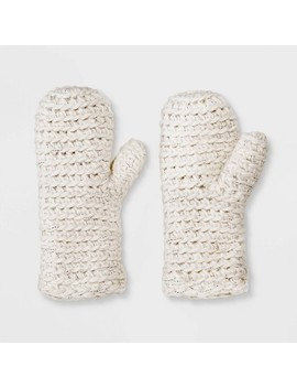 Women's Hand Knit Gloves   Universal Thread™ One Size by Universal Thread