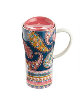 Paisley Porcelain Travel Not A Paper Cup With Handle by World Market