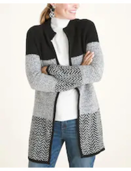 Black And White Colorblock Cardigan by Chico's