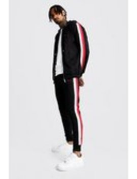Man Zip Through Tracksuit With Double Panel by Boohoo Man