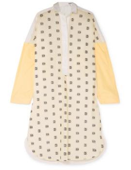 拼接刺绣纯棉府绸衬衫 by Loewe