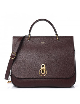 Mulberry Natural Grain Leather Amberley Satchel Oxblood by Mulberry