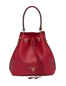Triangle Patch Bucket Bag by Prada