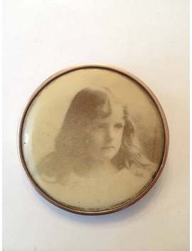 Antique Victorian Child Photo Pin Celluloid Edwardian Sepia Little Girl Rose Gold Filled Portrait Brooch Art Nouveau Vintage Estate Jewelry by Etsy