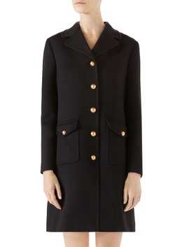 Double G Wool Coat by Gucci