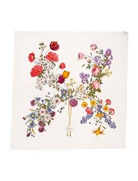 Vintage Floral Silk Scarf by Gucci