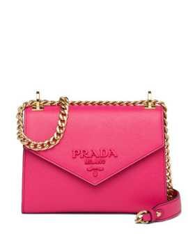 Monochrome Saffiano Shoulder Bag by Prada