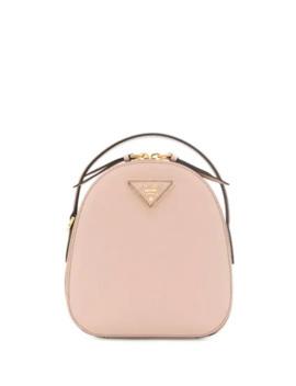 Mini Logo Plaque Backpack by Prada