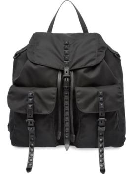 Studded Backpack by Prada