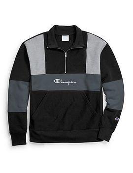 Champion Life® Men's Reverse Weave® Colorblock Half Zip Sweatshirt by Champion
