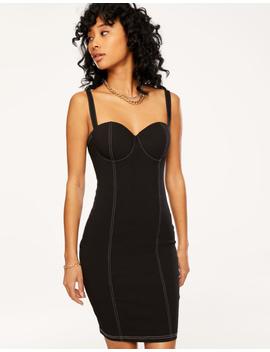 Black Dress With White Stitching by Tally W Ei Jl
