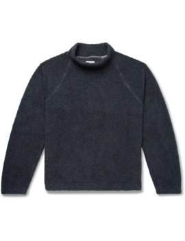 Cotton Fleece Mock Neck Sweatshirt by Save Khaki United