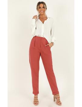 Goal Stomper Pants In Dusty Rose by Showpo Fashion