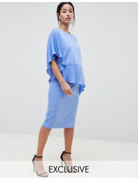 Asos Design Maternity Nursing One Shoulder Double Layer Dress by Asos Design