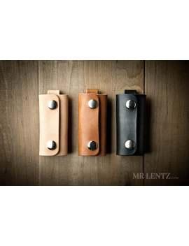 Leather Key Wrap, Key Cover, Leather Keychain, Key Holder, Key Pocket 096 by Etsy
