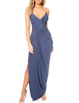 Ruched Side Drape Evening Dress by Katie May