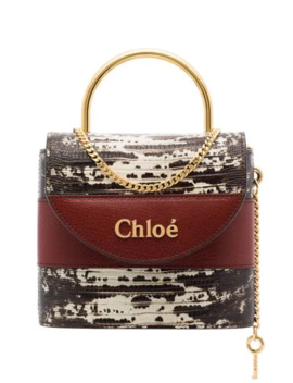 Aby Lock Lizard Effect Tote by Chloé