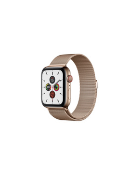 Apple Watch Series 5 Gps + Cellular, 44mm Gold Stainless Steel Case With Gold Milanese Loop by Apple