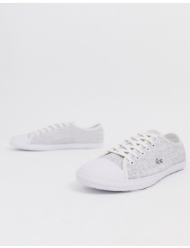 Lacoste Lace Up Sneakers In White by Lacoste