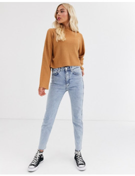 Brave Soul Adda Cropped High Neck Sweater by Asos