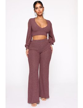 Isabella Pant Set   Plum by Fashion Nova