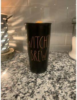 "Rae Dunn ""Witch's Brew"" Halloween Black Orange Travel Mug With Orange Lid! by Rae Dunn"