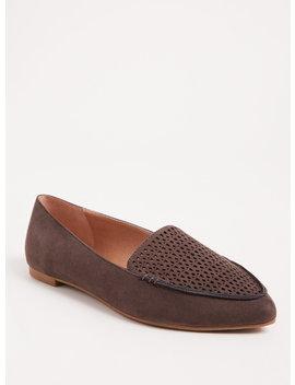 Grey Laser Cut Pointed Toe Loafer (Wide Width) by Torrid
