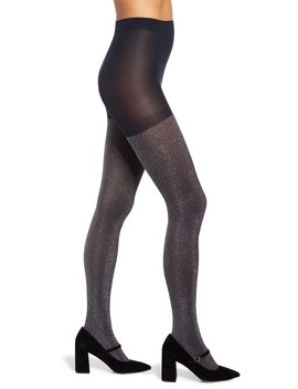 X Atlantic Pacific Sparkle Ribbed Tights by Halogen®