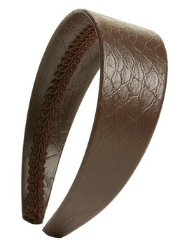 X Atlantic Pacific Croc Embossed Faux Leather Headband by Halogen®
