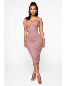 Don't Sweat It Midi Dress   Plum by Fashion Nova