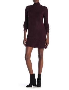 Mock Neck Long Sleeve Sweater Dress by Max Studio